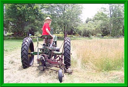John Deere Model B Tractor with No.5 Mower