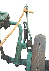 This is the trip rope and lift lever
